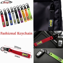 JDM Style For Honda Car OMP Power Painting Cellphone Lanyard Racing Keychain ID Holder Mobile Strap Key Ring RS-BAG026