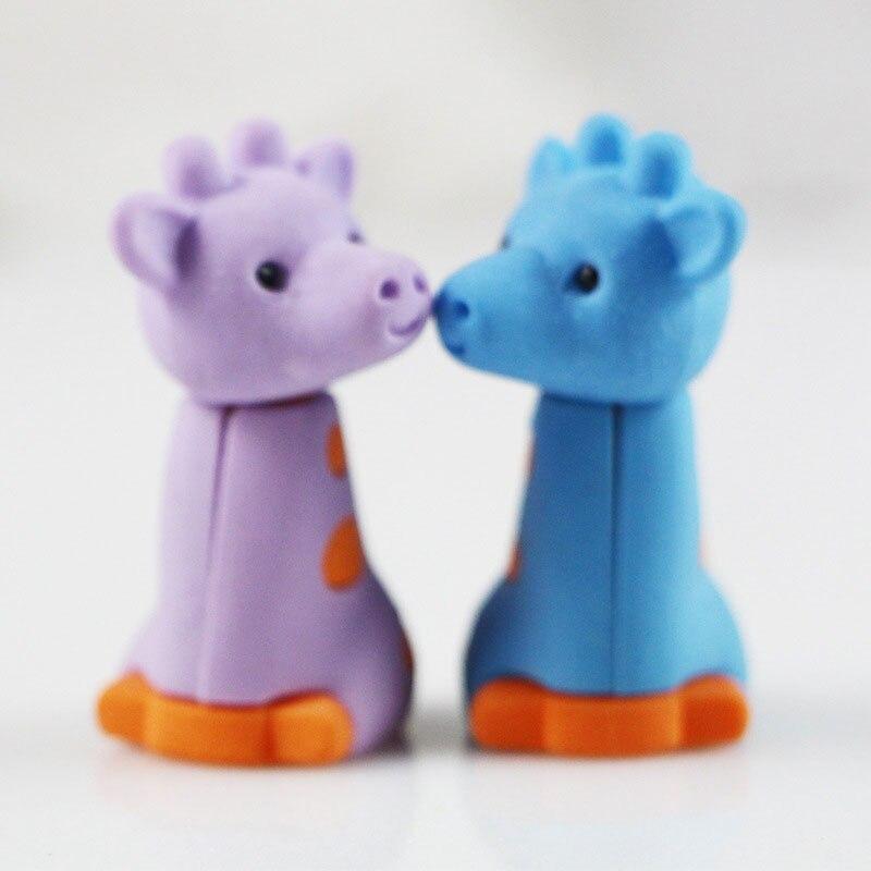 1pcs Cute Giraffe Korean Creative Rubber Erase School Office Supplies Student Learn Supplies Papelaria Kawaii Gift For Kids