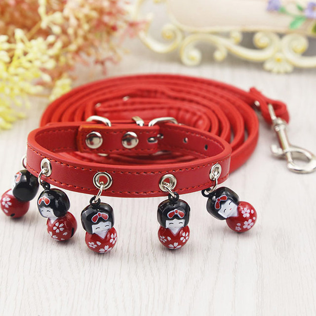 Collar for Cats Pets Dogs Leashes Harness Necklace Set PU Leather Dog Collar for Small Dogs Puppy Cat Collars and Leash Products
