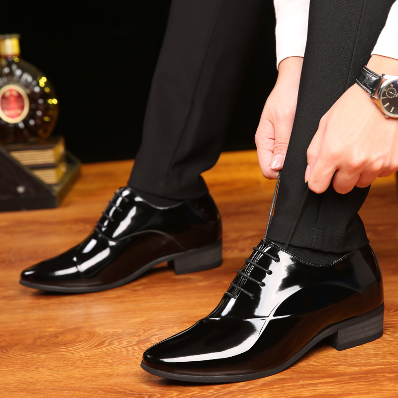 Men Dress Shoes Formal Official Leather Shoes for Men Business 2018 New Autumn Lace Up Flat Breathable Oxfords Pointed Toe new 2018 fashion men dress shoes black cow leather pointed toe male oxfords business shoes lace up men formal shoes yj b0034 page 1