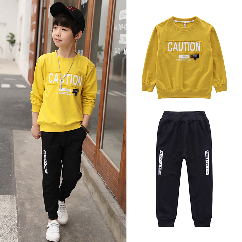 Children Clothes Set for Boys 2018 Spring Autumn New Suit Big Kids Long-sleeved Sport Suit Jacket+pants Boys Clothing Sets