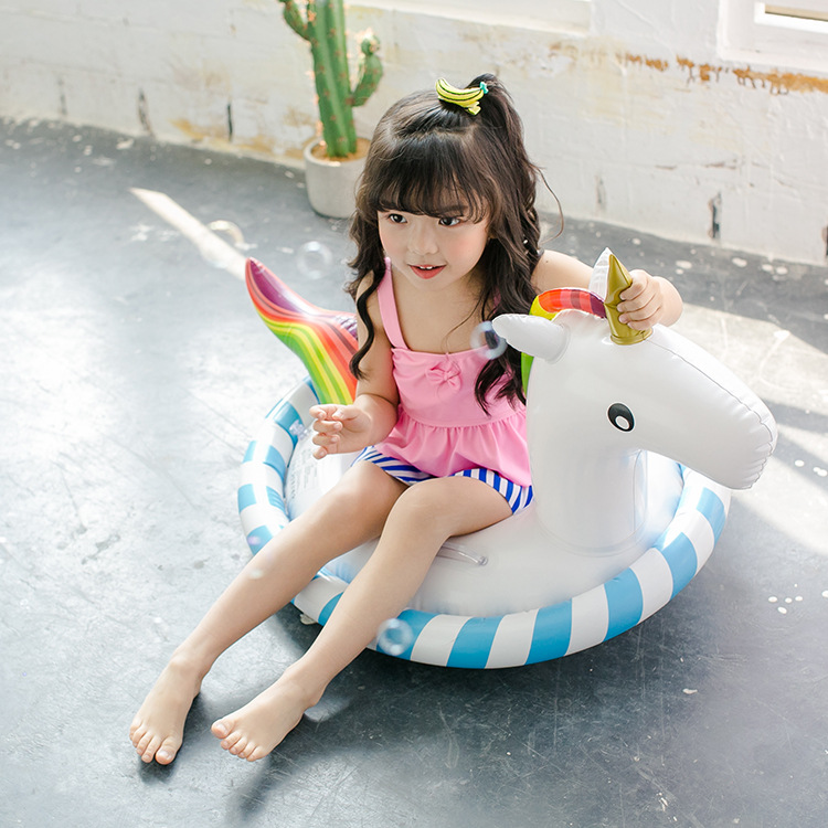 Water Toy Children Swimming Circle Pool Unicorn Swimming Circle Inflatable Riding Baby Float Pool Animal Boat Swimming Float