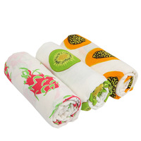 Ruyibebe Summer New Fruit Pattern Newborn Scarf Cotton Gauze Blanket Baby Bath Towel Blanket Gauze