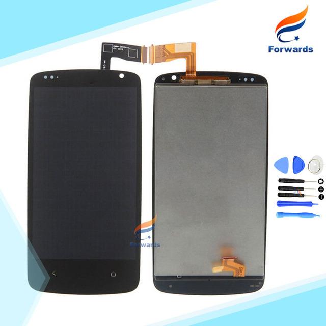 Una pieza 100% probados de alta calidad para htc desire 500 Pantalla LCD Táctil Digitalizador Asamblea con herramientas libres gratis