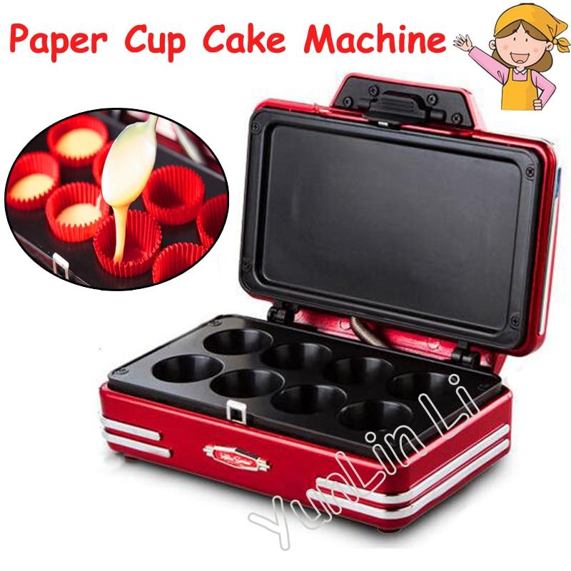 Mini Paper Cup Cake Machine 220V 750W Electric Baking Machine Household  Paper Cup Cake Machine RCKM700 digital heat transfer baking cup machine single display quaff