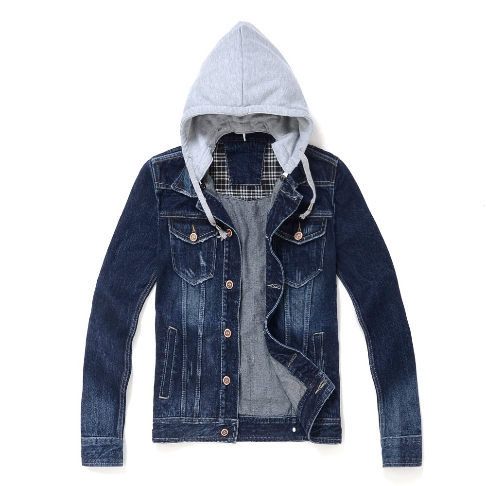 Denim Jacket With Hood Mens Photo Album - The Fashions Of Paradise