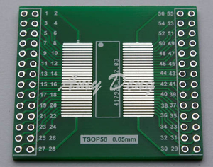 Image 1 - 20 adet/grup TSOP56 TSOP48 dönüş DIP56 adaptör plakası AM29 serisi çip 0.5mm 0.65