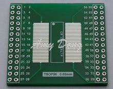 20 sztuk/partia TSOP56 TSOP48 się DIP56 płyta adaptera AM29 układ z serii 0.5mm 0.65