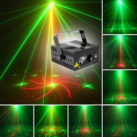 Mini Size 2 Lens 18 Patterns RG BLUE LED Stage New Year Christmas Laser Lighting Projector