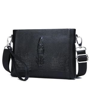Image 2 - FEIDIKABOLO sac à bandoulière en cuir véritable pour hommes, petits sacs à bandoulière, sacs à main, pochette