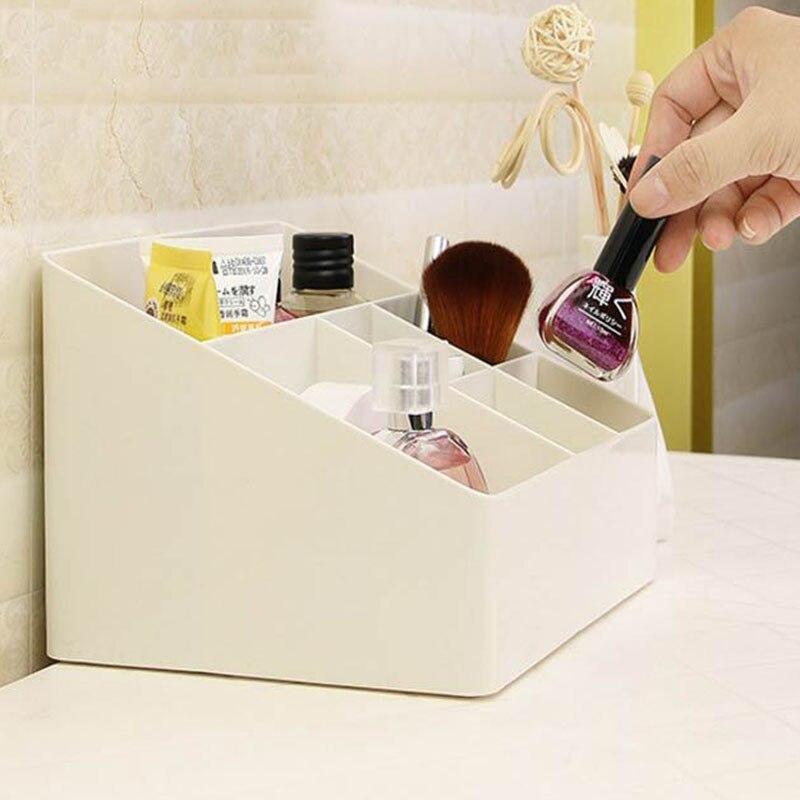Image 4 - 1 Pcs Simple Makeup Organizer 6 Grid Plastic Storage Box Home Gadget Cosmetics Desktop Finishing Organizador 2019 HOT SALE-in Storage Boxes & Bins from Home & Garden