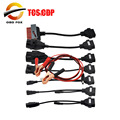 A Set of Car Adaptor Cables For TCS CDP PRO PLUS 8 cables for cars tcs cdp pro free shipping