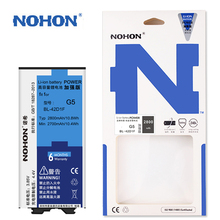 Original NOHON Battery BL-42D1F For LG G5 H868 H860N H860 F700K H850 H830 H820 High Capacity Rechargeable 2800mAh Retail Package