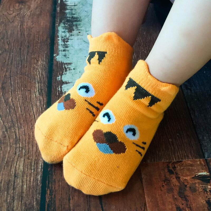 0b6d82c132ce4 0 to 6 years old children's baby lovely stereo ears straight cartoon animals  boat socks