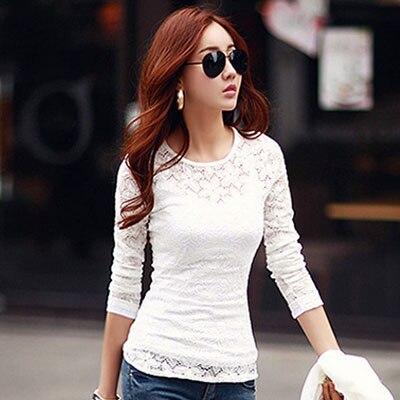 Lace blouse women's shirt blusas womens tops and blouses long sleeve winter autumn blusas mujer de moda 2018 plus size 5XL 8