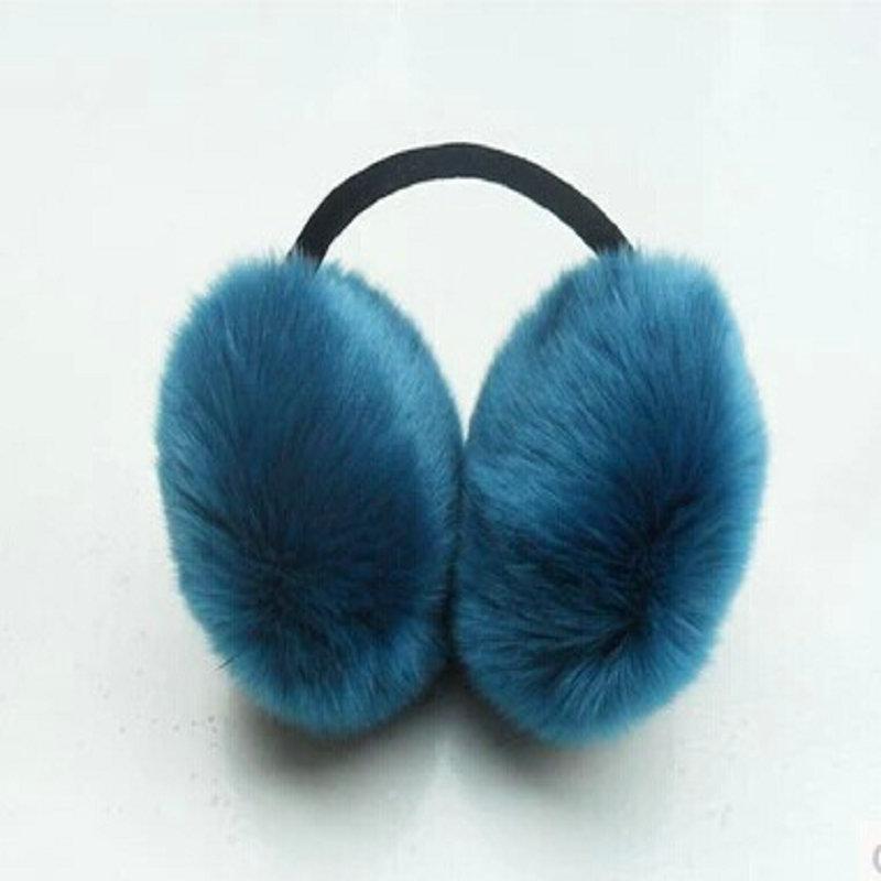 Free Shipping Fur Earmuffs  Plush Earmuffs Lovely Super  Winter Imitation Rabbit Hair Fox Fur Earmuffs Ear Package Wholesale