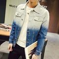 Men Jeans Jacket Autumn Casual Patchwork Color Denim Jackets Mens Turn Down Collar Slim Fit Fashion Man Coat Windbreaker 5XL-M