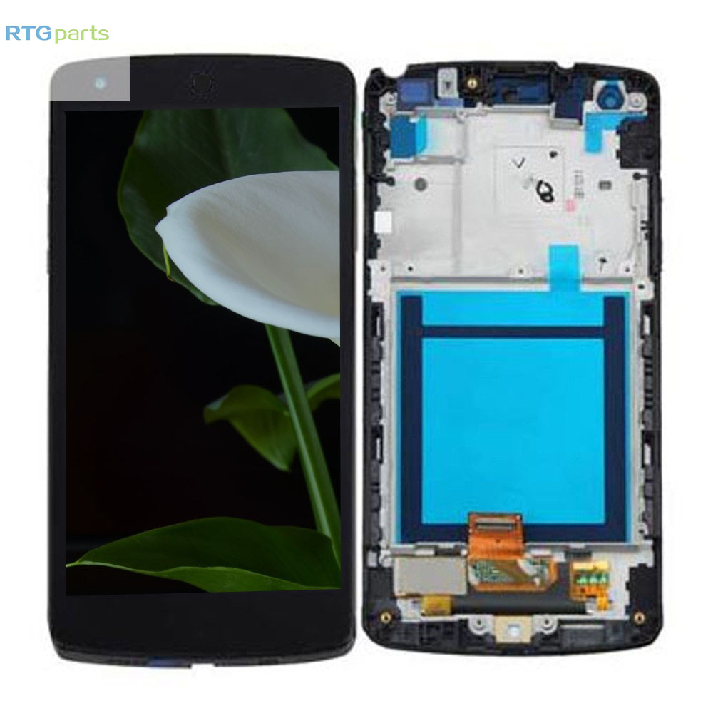 RTGparts For LG Google Nexus 5 D820 D821 LCD Touch Screen Digitizer Assembly with Frame in Mobile Phone LCD Screens from Cellphones Telecommunications