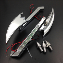 Aftermarket free shipping motorcycle parts Motorcycle LED Turn signal Crooked Arrow mirrors fit for   CBR929RR CHROME