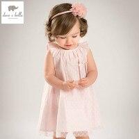 DB4835 Dave Bella Summer Baby Girls Princess Dress Childs Sweet Dress Kids Wedding Clothes Children Dress