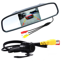 Auto Parking Assistance 4.3 Inch TFT LCD Car Rearview Mirror Monitor with HD Backup Reverse Car Rear View Camera Dropshippping