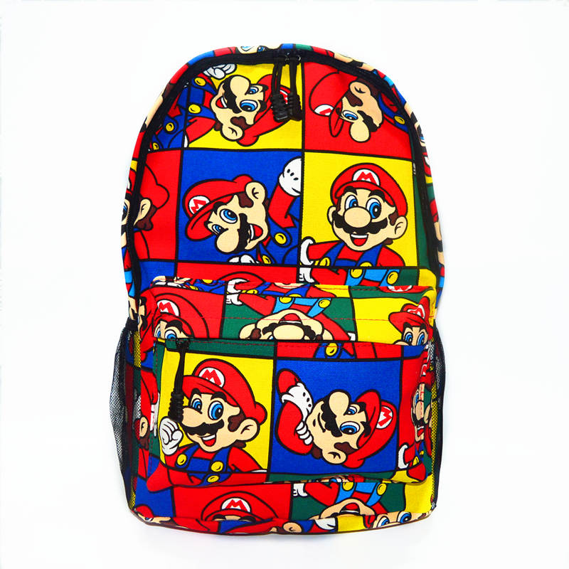 Mario Super Backpack  Student Bag  Computer Bag  Large Capacity Backpack