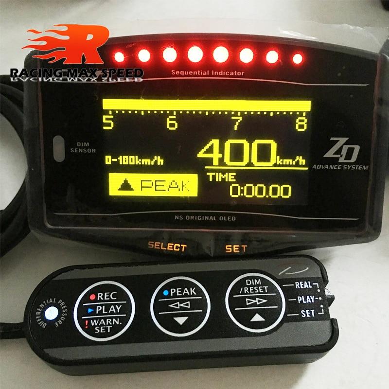 Df ZD автоматический манометр defi advance Gauge дисплей цифровой датчик температуры воды масла Датчик давления масла датчики об/мин датчики скорости 10 в 1