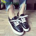 Casual Shoes Women White Genuine Cow Leather Female Lace up Breathable Tide Claasics Shoes Flats Valentine Shoes Basket Femme