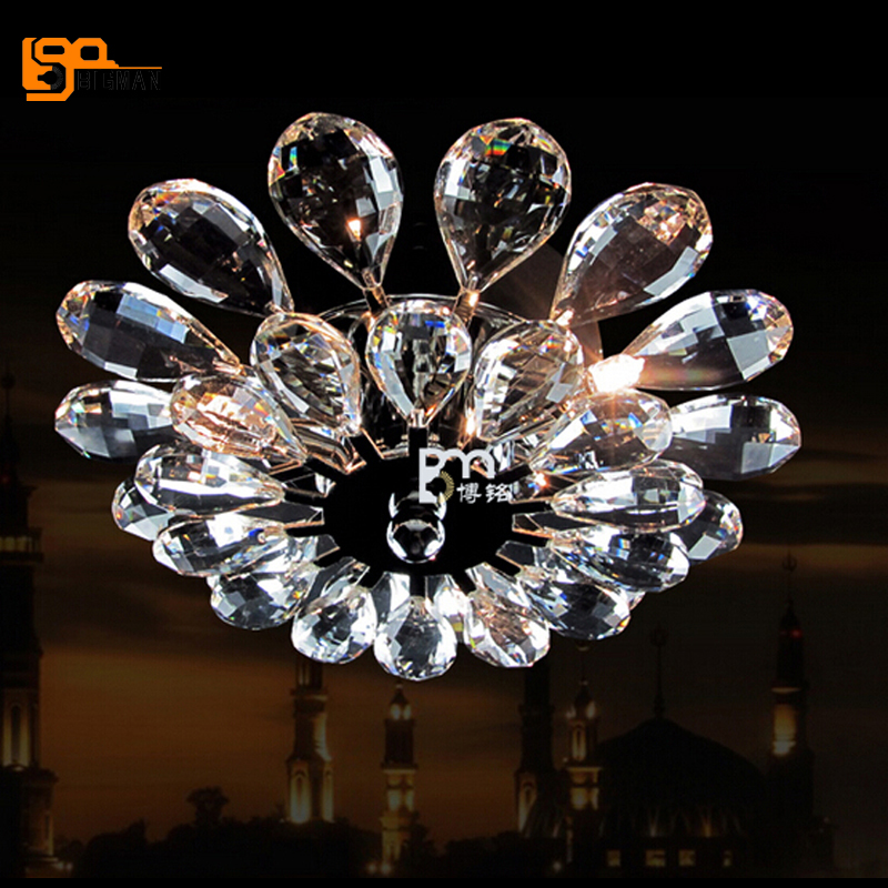 New modern design Crystal Chandelier Lighting Fixture Crystal Light Lustres luminaire plafonnier for home free shipping