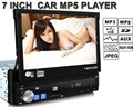 New Arrival 7 inch LCD Car MP5 MP4 Player FM USB SD TF AUX support reverse camera HD stereo radio universal 1 din remote control