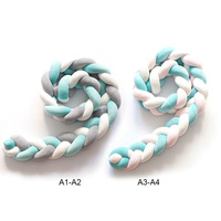 1.5M/2.0M Knot Bumper Newborn Baby Nodic Long Knotted Braid Pillow Bed Bumper in Crib Infant Room Decor Crib Bumpers