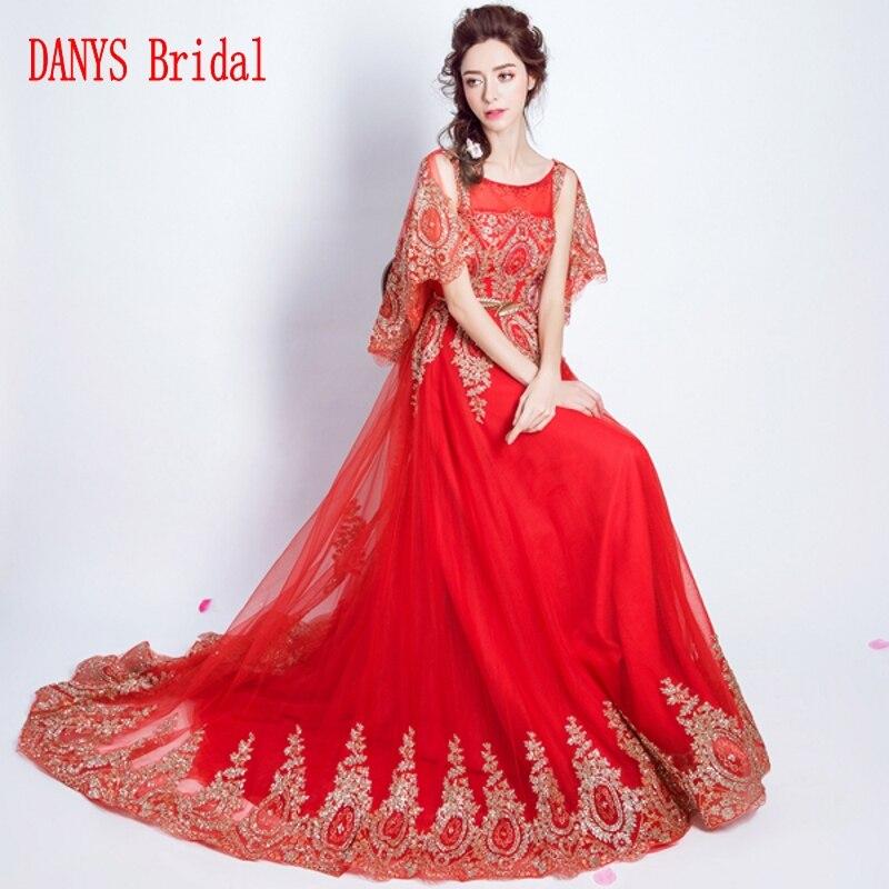66fbf0356b Czerwone długie suknie wieczorowe z przylądkiem na sprzedaż linia Party  turecki formalne suknie wieczorowe sukienki w Czerwone długie suknie  wieczorowe z ...