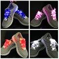 20 unids/lote Nylon venta caliente la luz LED por Cordones de Los Zapatos Flash Resplandor de seguridad multicolor Palillo de La Correa Cinta de zapatos Cordones de zapatos de Fiesta de Navidad de juguete