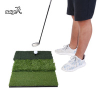 Balight 25*16in Tri Turf Golf Hitting Mat Backyard Green Golf Mat Residential Training Hitting Pad Practice