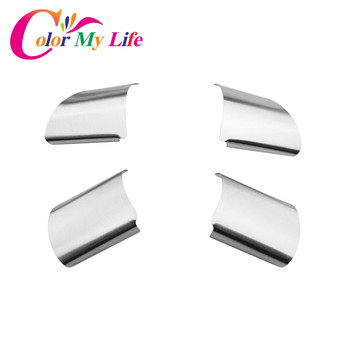 Color My Life Stainless Steel Car Steering Wheel Decoration Cover Trim Sticker for Ford Focus 2 MK2 2005 - 2011 Accessories
