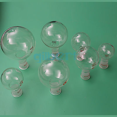 50ml Quickfit 24/29 Socket Lab Glass Flask Round Bottom Single Short Neck Ware