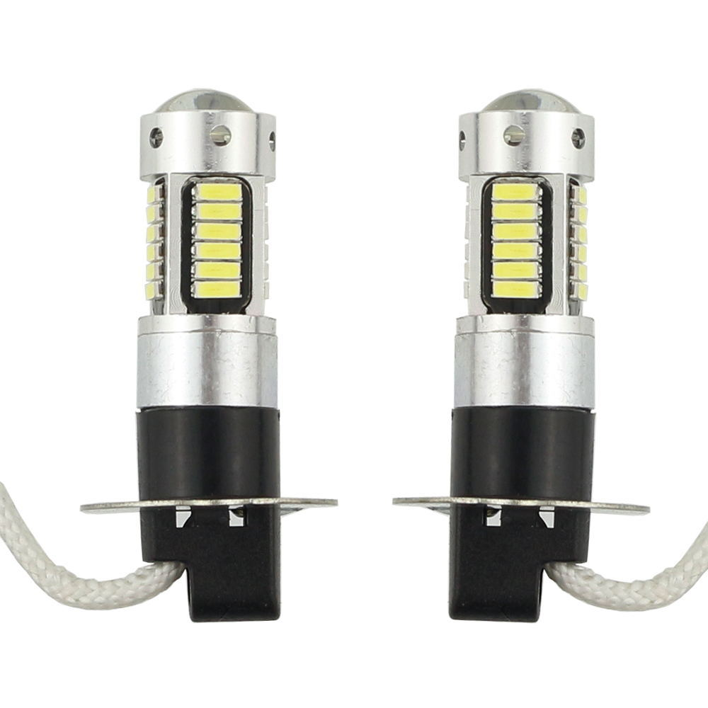 2pcs High Power DRL Lamps 30SMD 4014 H3 LED Replacement Bulbs For Car Fog Lights Daytime Running Lights White Red Blue Amber (5)