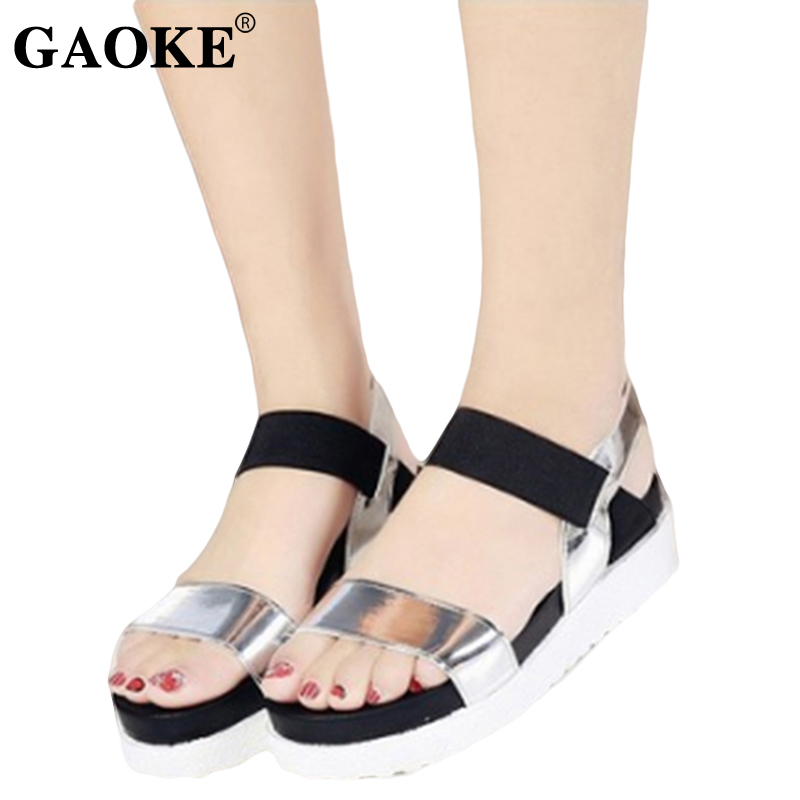 Roman Sandals Shoes Peep-Toe Gladiator Women Summer Mujer