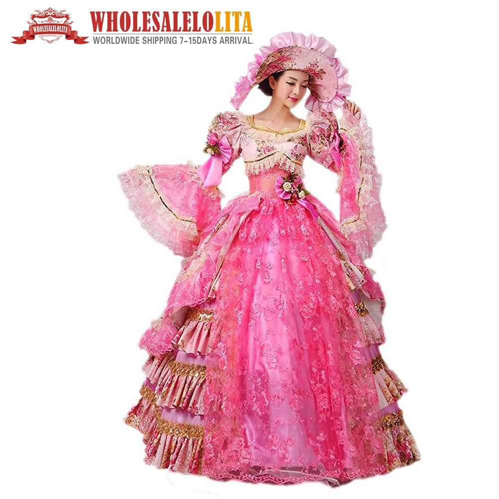 Bola de Mascarada vestido rococó meridional del vestido reenactment ...