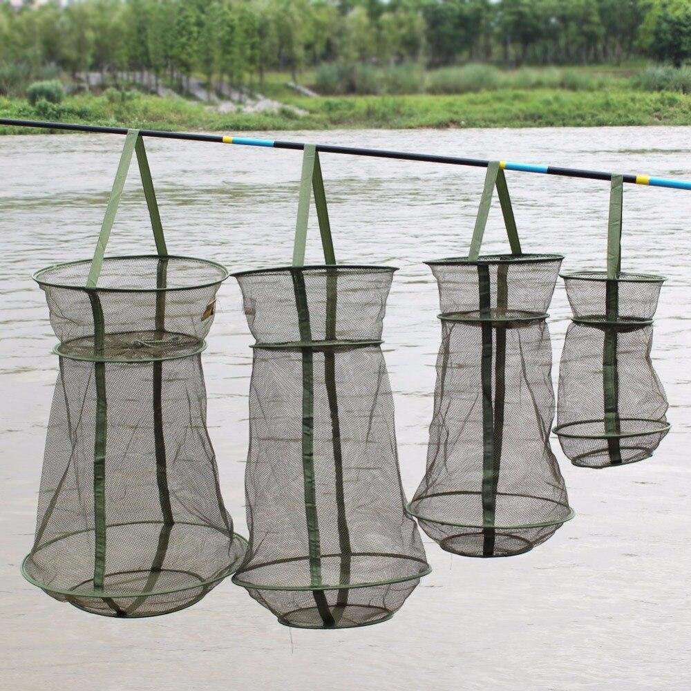 Sougayilang 57*35cm 3 Layer Portable China Fishing Net Fish Shrimp mesh Cage Cast Net Fishing Trap Network Fishing Net