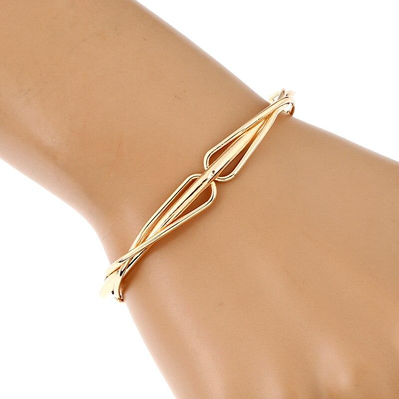 bracelets & bangles carters manchette gold silver plated love bracelet jonc pulseira feminina indian jewelry