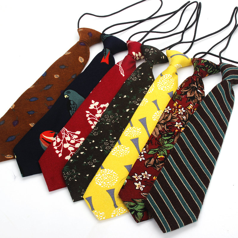 Lot 3 Child Pre-tied Necktie for Boys Handkerchief Kids Tie Parent-child Tie Set