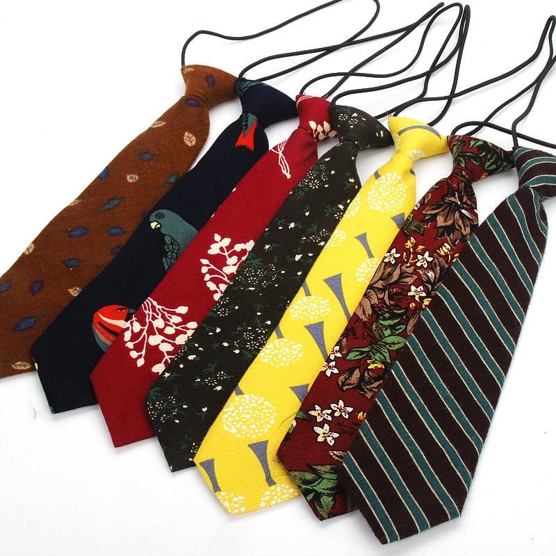 2019 Brand New Boy's Necktie Cotton Floral Neck Tie For Children Suits 6cm Flower Print Ties Slim Girls Elastic Tie Gravatas