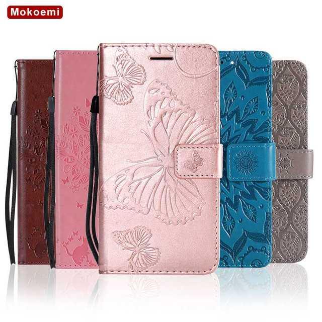 Mokoemi Pattern Flip Wallet Leather 6.0