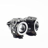 Motorcycle Headlights 7colors Lights 12V 125W LED moto spotlights 3000lmx super bright fog spot lamp waterproof accessories