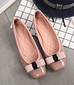 Elegant Bowtie Genuine Leather Shoes Flats Women Boat Shoes Casual Flat Heel Ballet Flats Lady Causal Office Designer Loafers