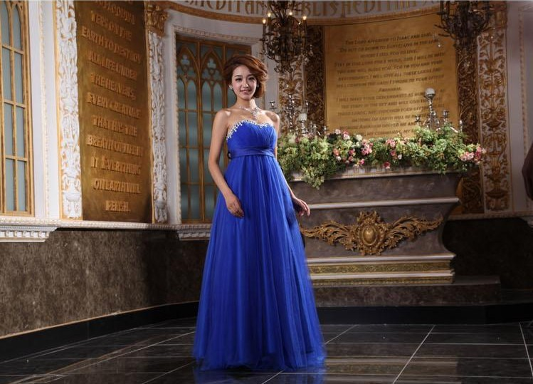 free shipping 2014 new design Tube top   dress   gauze bow formal short custom plus size really photoes ball gown   bridesmaid     dresses