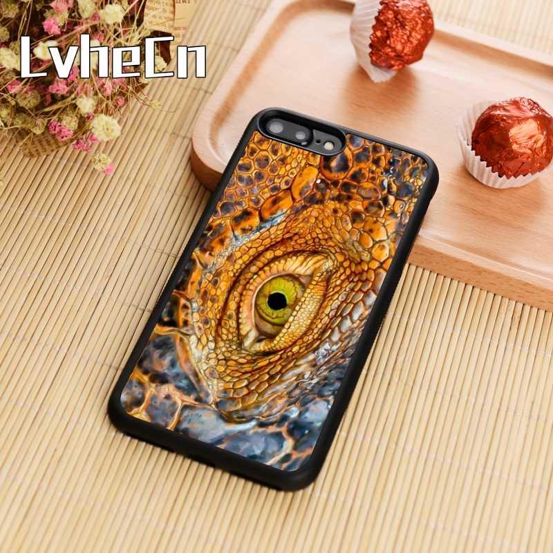 LvheCn ワニヘビ目爬虫類電話ケースカバー iphone 5 6 6s 7 8 プラス 11 pro X XR XS 最大サムスン S7 エッジ S8 S9 S10