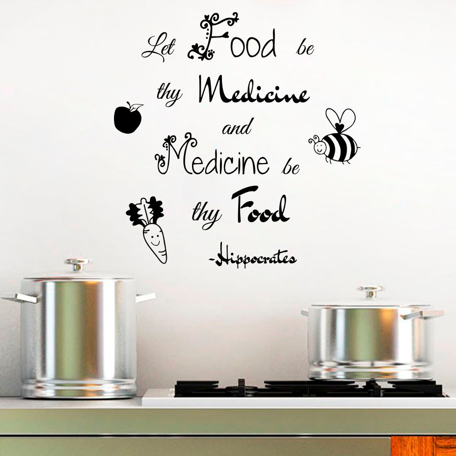 Let Food Be Thy Medicine Wall Letters Stickers Art Wall