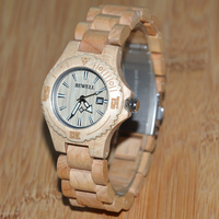 Drewniane Zegarki BEWELL Gorących Bubla Kobiet Proste Moda Kwarcowe Zegarki Na Rękę Mały Wyświetlacz Kalendarz Wybierania trzy Wskaźniki 020AL